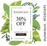 summer sale banner  sale poster ... | Shutterstock .eps vector #401601691