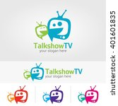 talk show  tv logo design... | Shutterstock .eps vector #401601835