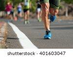 marathon running in the morning ...   Shutterstock . vector #401603047
