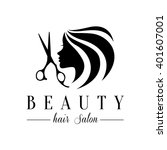 beauty hair salon logo   Shutterstock .eps vector #401607001