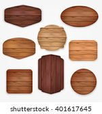 wooden  stickers label... | Shutterstock .eps vector #401617645