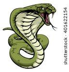 an illustration of a king cobra ... | Shutterstock .eps vector #401622154