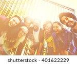 friends friendship walking park ... | Shutterstock . vector #401622229