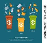 color poster waste management...   Shutterstock .eps vector #401626681