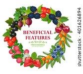fresh wild and garden harvested ... | Shutterstock .eps vector #401626894