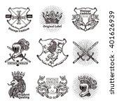 heraldic grayscale isolated...   Shutterstock .eps vector #401626939