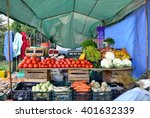 fresh and organic vegetables at ... | Shutterstock . vector #401632339