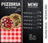 sample menu design in the... | Shutterstock .eps vector #401641381