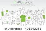 doodle line design of web... | Shutterstock .eps vector #401642251