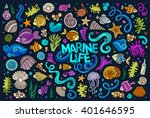 colorful vector hand drawn... | Shutterstock .eps vector #401646595