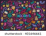 colorful vector hand drawn... | Shutterstock .eps vector #401646661