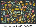 colorful vector hand drawn... | Shutterstock .eps vector #401646679