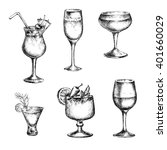cocktail set. elements for the... | Shutterstock . vector #401660029