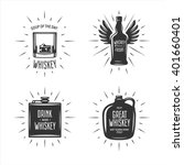 whiskey related typography set. ... | Shutterstock .eps vector #401660401