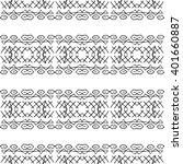 tribal seamless pattern. zigzag ... | Shutterstock . vector #401660887