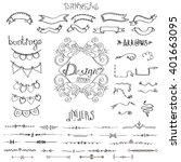 hand drawn design elements ... | Shutterstock .eps vector #401663095