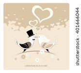 wedding card  | Shutterstock .eps vector #401666044