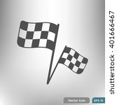 racing flag. eps 10 flat icon.... | Shutterstock .eps vector #401666467