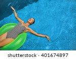 summer vacations. beautiful... | Shutterstock . vector #401674897