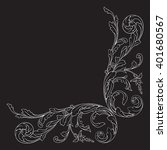 vintage baroque frame scroll... | Shutterstock .eps vector #401680567