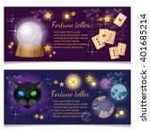 astrology and alchemy banners... | Shutterstock .eps vector #401685214