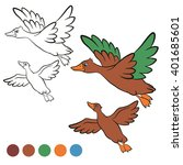 coloring page. color me  duck.  ... | Shutterstock .eps vector #401685601