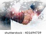 double exposure of businessman...   Shutterstock . vector #401694739