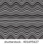 optical art opart striped wavy... | Shutterstock .eps vector #401695627