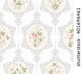 seamless floral pattern with... | Shutterstock .eps vector #401696461