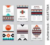 set of geometric tribal... | Shutterstock .eps vector #401697064