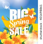 big spring sale. vector... | Shutterstock .eps vector #401698861