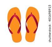 flip flops isolated | Shutterstock .eps vector #401698915