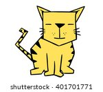 cartoon geometric cat   Shutterstock .eps vector #401701771