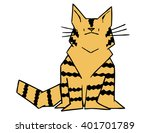 cartoon geometric maine coon | Shutterstock .eps vector #401701789