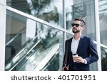 portrait of stylish businessman ... | Shutterstock . vector #401701951