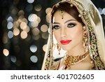portrait of a beautiful female... | Shutterstock . vector #401702605