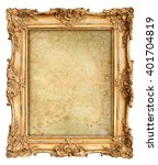 golden frame with empty grungy... | Shutterstock . vector #401704819