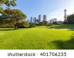 sydney's hyde park and distant... | Shutterstock . vector #401706235