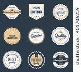 premium quality labels set.... | Shutterstock . vector #401706259