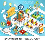 the process of education  the... | Shutterstock .eps vector #401707294
