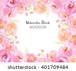 floral background with hand... | Shutterstock . vector #401709484