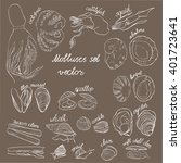 molluscs set vector... | Shutterstock .eps vector #401723641