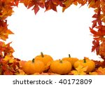 fall colored leaves with a... | Shutterstock . vector #40172809