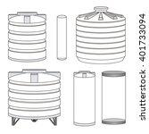 industrial empty water tanks... | Shutterstock .eps vector #401733094