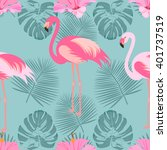 tropical  exotic seamless... | Shutterstock .eps vector #401737519