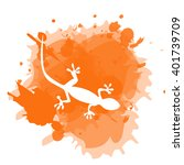 colorful gecko pattern | Shutterstock .eps vector #401739709