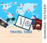 travel and adventure template ... | Shutterstock .eps vector #401741839