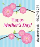 happy mother's day wish card | Shutterstock .eps vector #401745274