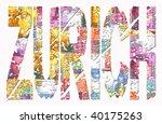 abstract zurich grunge text... | Shutterstock . vector #40175263
