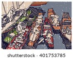 thailand  chinese  vietnam... | Shutterstock .eps vector #401753785